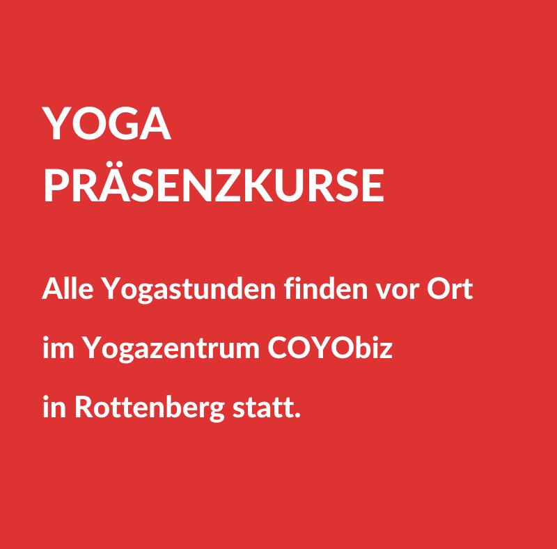 Yoga Präsenzkurse